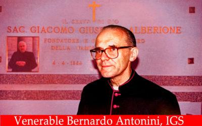 SIERVO DE DIOS DON BERNARDO ANTONINI, PROCLAMADO VENERABLE