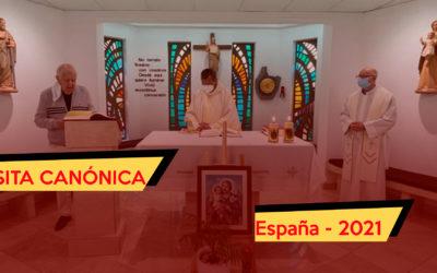 VISITA CANÓNICA – ESPAÑA 2021